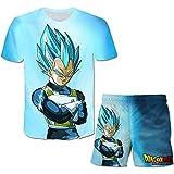 MYLZZ Dragon Ball – Camiseta corta de verano de dos piezas, impresión 3D, traje de verano para hombre y mujer, ropa infantil (estilo 06,120)