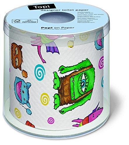 Toilettenpapier Rolle Monster / Kinder / Kindermotiv / Kindergeburtstag / Bad / Badartikel / Geschenk