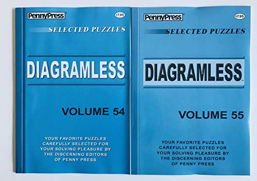 Volumes 54 and 55 of Diagramless Crossword Puzzles from the Penny Press Dell Selected Puzzle Series