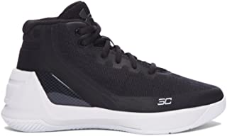 Boy's Under Armour Curry 3 Basketball Shoe Black/White Size 13 Kids US