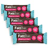 Raspberry & Seed FattBar (Pack of 5) | 4 Grams Carbs Per Bar, Keto, Low Carb, No Added Sugar, All Natural, No Polyols, Healthy Fats, Delicious, Vegan