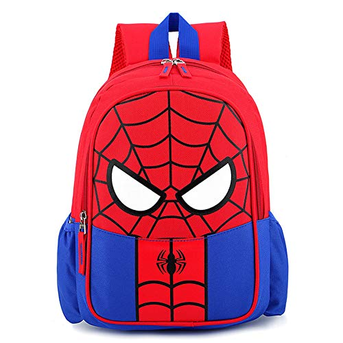 Longsing Spiderman Rucksack Student Schultasche Kinderrucksäcke Superhelden Kinder Rucksack Einstellbare Kindergarten Buch Taschen Grundschule Junge Mädchen Buch im Rucksack sb