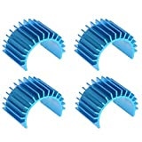 JFtech Aluminum 370 380 Motor Heat Sink Heatsink Cooling Fins for RC HSP Tamiya Traxxas 1/16 Car (Pack of 4)