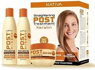Kativa Tech Kativa Post Relaxer Kit X (Shampoo + Conditioner X 250 Ml 250 Ml + X X 250 Deep Treatment by KATIVA