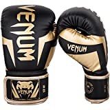 Venum Elite Boxing Gloves - Black/Gold - 16oz