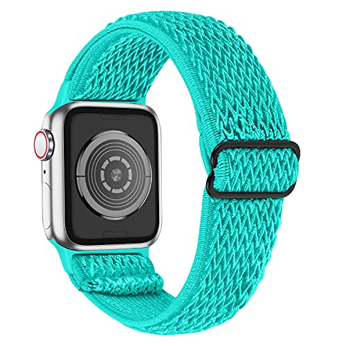 HAYUL Compatible with Apple Watch Band 38mm 40mm 42mm 44mm, Elastic Adjustable Braided Nylon Stretchy Sport Bands Wristband Replacement for iWatch Series 6/5/4/3/2/1 & iWatch SE Women Men