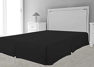 Intemporel Cubre somier de Microfibra 160 x 200 cm Negro