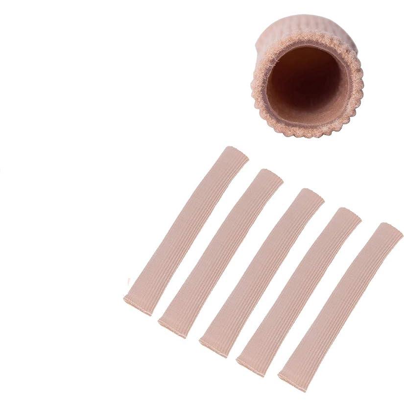 植木分割荷物Wecando足指保護ジェルパッド つま先 指 外反母趾 内反小趾 矯正 保護 魚の目 摩擦痛み緩和 調整可能 (スキントーン 5本, S)
