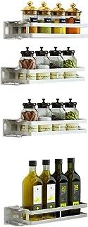 Supports à cuisine Assiette à assaisonnements Support à bouteilles avec porte-cellier Étagère à condiments Organisateur de...