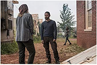 Brett Butler 8 Inch x 10 Inch PHOTOGRAPH The Walking Dead (TV Series 2010 -) Back View Talking to Tom Payne Next to Root Cellar kn