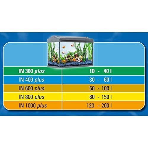Tetra IN 400 plus  Innenfilter (zur biologischen und chemischen Filterung, stufenlose Regulierung der Durchflussgeschwindigkeit, geeignet für Aquarien mit 30 – 60 Liter) - 6