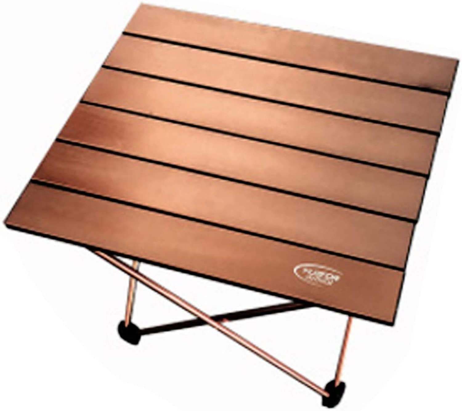 Hamm YHM Outdoor Camping Portable Light Folding Table Aviation Aluminum Picnic Barbecue Table Small Size 39.5x34.5x32.5cm (Coffee)
