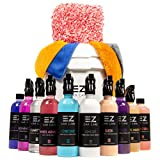 EZ Car Cleaning Kit: Complete Set Up with Shampoo, Window Cleaner, Snow Foam, Carnauba...