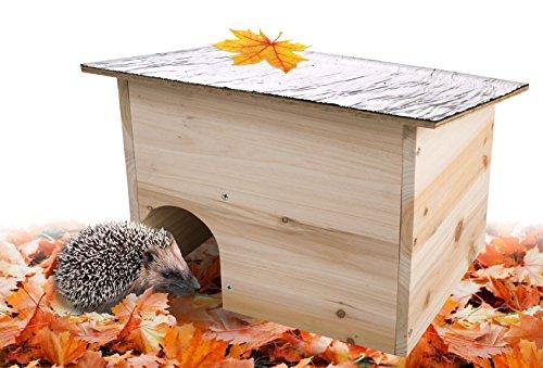 Gardigo Igelhaus - Bausatz aus FSC Holz | Wetterfestes Dach | Igelhotel, Igelhütte für den Garten