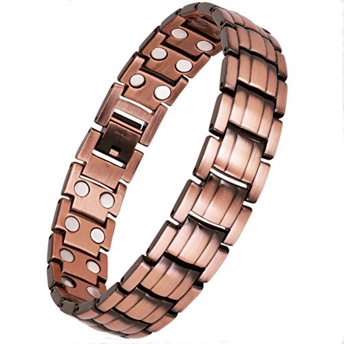 Best Review Of Double Magnets Pure Copper Magnetic Therapy Bracelet for Pain Relief and Arthritis