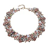 Crystal Rhinestone Statement Necklace, Vintage Chunky Chain Choker Collar Bib Statement Necklace Fashion Costume Jewelry Necklaces for Women