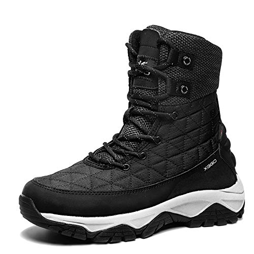 Schneestiefel Damen Winter Plus-samt Warme Baumwolle Schuhe Nordost Baumwolle Stiefel 2020 Neue Damenschuhe Dicke Wasserdichte Anti-rutsch-stiefel 36 Black Rock Ash - Single (Plüscheinlagen senden)
