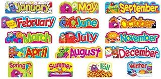 Furry Friends Monthly & Seasonal Headers Mini Bulletin Board Set