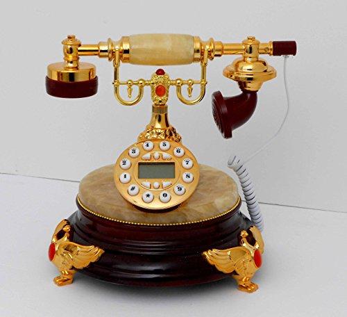 Nabil's Gift Shop Retro Style Push Button dial Desk Onyx Telephone/Home Decorative # 1713