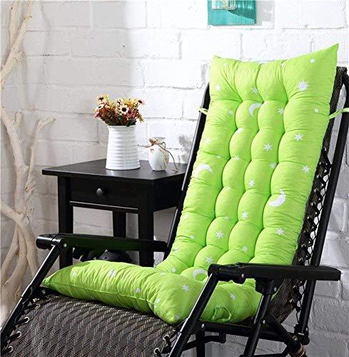 Anzkzo Portable Chaise Longue Cushion High Back Rocking chair pad Lounger Recliner Cushion With Ties Cushion Chair Seat Pad Cushion No chair-155x48x8cm(61x19x3inch) C.