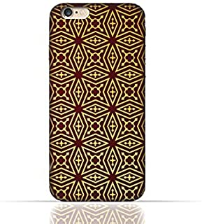Apple iPhone 6 Plus / 6 Plus s TPU Silicone Case with Arabesque Floral Pattern