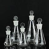 Equipo básico de laboratorio para instrumentos químicos, frasco triangular con tapón de vidrio 25/50/100/150/250/500/1000 ML Conjuntos de 7 piezas Suministros para enseñanza universitaria