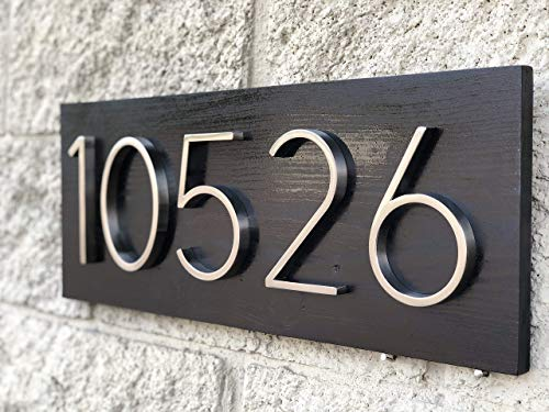 House Number Sign - House Number Plaque, Street Number Sign, Wood Plaque Round, Address Numbers, House Plaque Wood, Outside House Sign