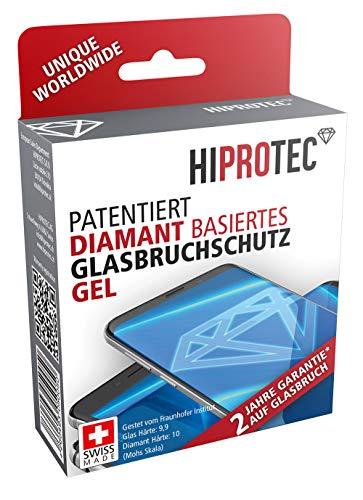 HIPROTEC diamant basiertes Glasbruchschutz Gel, Schutz gegen Bildschirm Glasbruch, antibakterieller Bildschirmschutz für alle Smartphones wie iPhone, Samsung, Huawai, LG, HTC