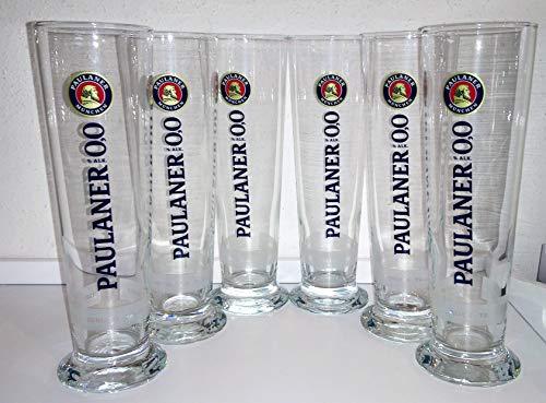 Cristal/vasos/cerveza blanca/Paulaner/6 x 0,5 litros/cerveza blanca/serie 0,0% sin alcohol.