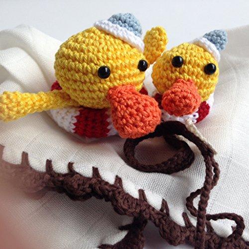 Conjunto de trapito de apego Doudou y chupetero de patito marinero para bebés . Hecho a mano. Un regalo original para recién nacido.