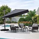 PURPLE LEAF Patio Umbrella Outdoor 10 ft Square Pool...