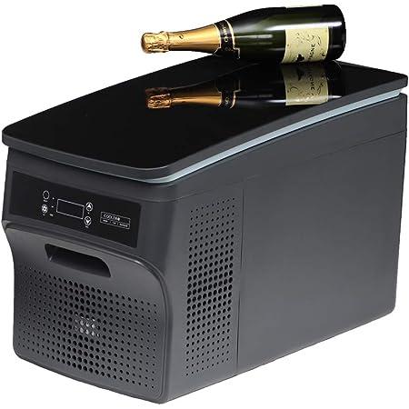 AVEST 氷も作れる ブラック鏡面天板の ポータブル冷蔵庫 冷凍庫 DC12V-24V AC100V 家庭用 車載用 冷凍冷蔵庫 静音 小型 車用 保冷 -25℃~20℃まで設定可能 容量26リットル