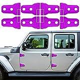 LAIKOU 8PCs Door Hinge Cover Decor Trim Exterior Protection Accessories Fit for 2018-2021 Jeep Wrangler JL JLU & Gladiator JT (Purple)