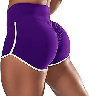 MU2M Women Workout Gym High Summer Waist Shorts Yoga Butt-Life Tummy Control Shorts