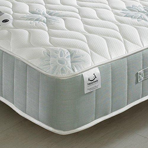 Memory Foam 1200 Pocket Sprung, Happy Beds New Sensation Medium Tension Mattress - 3ft Single (90 x 190 cm)