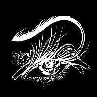 車とオートバイ 猫の目の美しさのファッションサロンの装飾車のステッカーパーソナライズされたPVCデカール18 x 16 cm (Color : 2, Size : 18 x 16 cm)