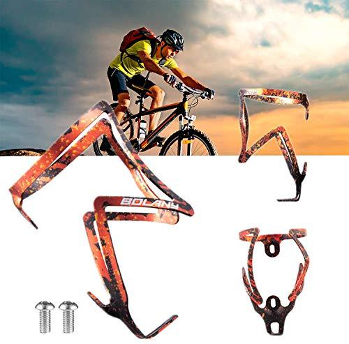 1Pcs Soporte para Botella De Agua para Bicicleta Aleación Ligera Aluminio Soporte para Botella De Agua para Bicicleta Soporte Universal para Bebidas para Bicicleta De Carretera,montaña A