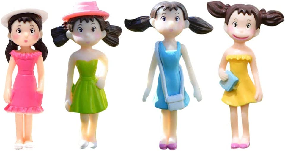 TOYANDONA Financial sales sale Max 42% OFF 4Pcs Miniature Girl Figurines Garden Toys People Fairy