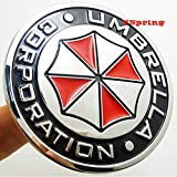 YSpring Umbrella Corporation Car Badge Circle Decals 2.95in Dia Resident Evil Stickers 3D Metal Label Emblems for Car Motorcycles
