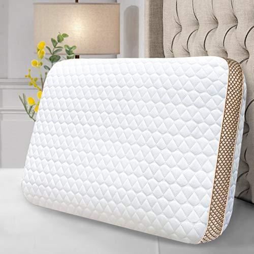 Sofslee Memory Foam Pillows, Neck Support Pillow Cervical Pillow for Neck Pain, Cooling Gel Pillow...
