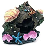 Ogquaton - Decoración de resina para acuario, barril oculto cueva depósito decoración creativa y útil