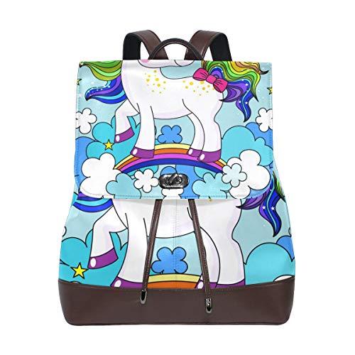 Rucksack Rucksack Perfekt für die Schule Baby Einhorn Regenbogen Haarfarbe für Mann Jungen Mädchen Frau Reise Kindertagesstätte