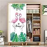 DFKJ Flamingo Selbstklebende Tapete Niedlicher Cartoon