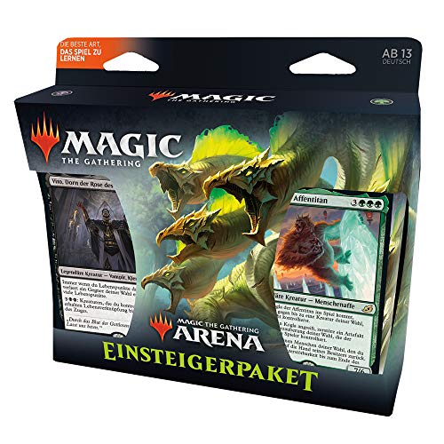 Magic The Gathering C75121000 Kit, perfektes Einsteiger-Set, mit 2 Starter-Decks und MTG Arena Code-Karte