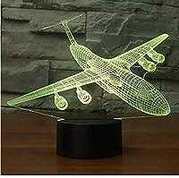 航空機3DナイトライトLED 16色飛行機のテーブルランプUsbベビー睡眠照明寝室のベッドサイドの装飾クリスマスキッズギフトリモコン付き