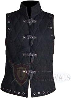 The Medieval Shop 加厚软垫无袖外套阿卡顿夹克盔甲红色棉面料连衣裙 SCA