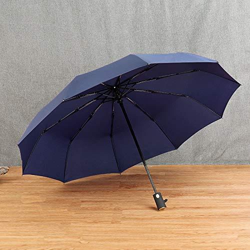 XSWY Grandes Completamente automática Hombre a Prueba de Viento del Paraguas Plegable Suave de los Hombres de Moda Paraguas de la Lluvia de Las Mujeres 10K Parasol Negro Recubrimiento UV Paraguas