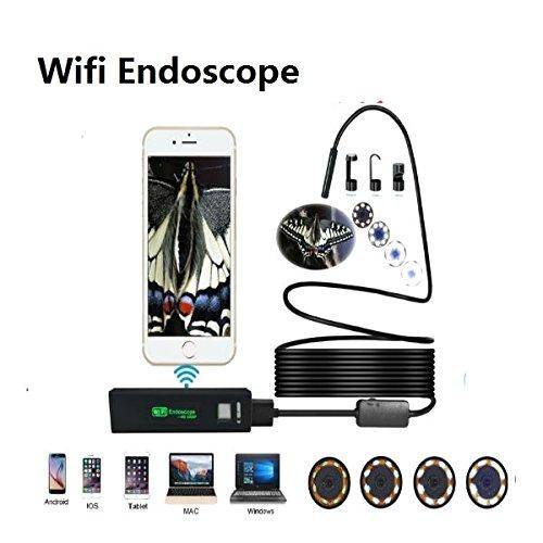 hangang Wireless endoscopio, boroscopio Cámara de inspección WIFI con IP68 impermeable 2.0 megapíxeles
