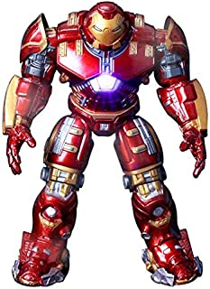 SKEIDO Game, Fun, Avengers 2 Iron Man 18CM Hulkbuster Armor Joints Movable PVC Action Figure Mark With LED Light Collectio...
