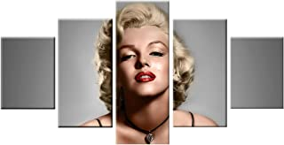 AGCary Unframed 5 Piece Marilyn Monroe Poster Modern Artwork Print Canvas Painting for Living Room Bedroom Home Decor Frameless Picture(Marilyn Monroe, 8x12 x2pcs,8x16 x2pcs,8x20 x1pcs)